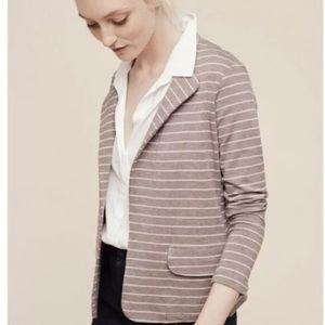 Dolan Anthropologie Ava Striped Knit Blazer Jacket